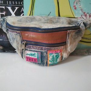 Vintage Acid Wash Denim Jean FannyPack